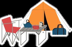 Summer Camping Setup Sticker