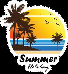 Summer Holiday Tropical Beach Sunset Sticker