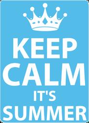 Summer Keep Calm Sticker