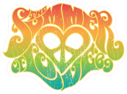 Summer Of Love Rainbow Hippy Sticker