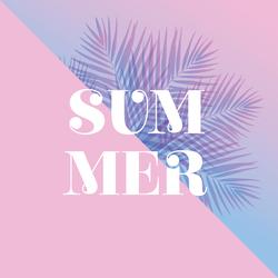 Summer Palm Leaves Sticker