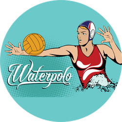 Summer Sports Water Polo Female Player Sticker
