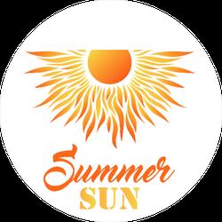 Summer Sun Sticker