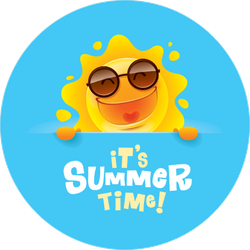 Summer Time Laughing Sun Sticker