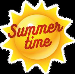 Summer Time Sun Sticker