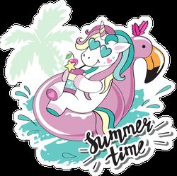 Summer Time Unicorn Sticker