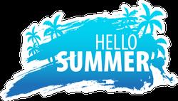 Summer Tropical Background Sticker