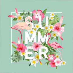 Summer Tropical Flowers Sticker