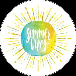 Summer Vibes Sunshine Sticker