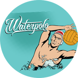 Summer Water Polo Comic Book Sticker