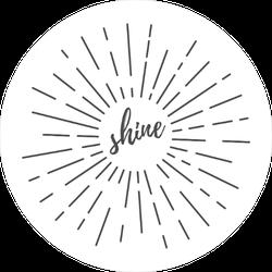 Sun Burst Shine Circle Sun Sticker