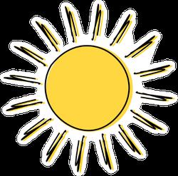 Sun Doodle Sticker