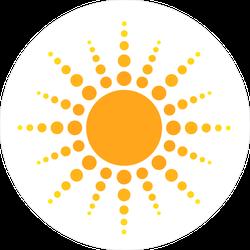 Sun Dots Icon Sticker