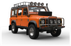 Sun Orange Heavy Off Road Vehicle Sticker