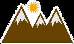 Sun Over Mountains Landscape Sticker