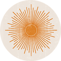 Sun Print Boho Minimalist Sticker