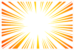 Sun Ray Explosion Sticker
