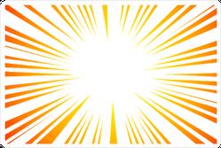 Sun Ray Explosion Sticker