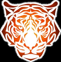 Sunburst Tiger Design Sticker