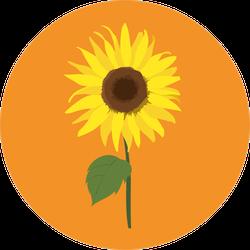 Sunflower Circle Sticker