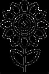 Sunflower Line Sticker