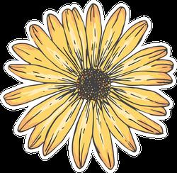 Sunflowers Line Art Illustration Sticker
