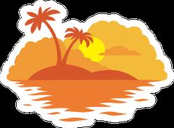 Sunset Island Beach Sticker