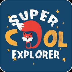 Super Cool Explorer Fox Sticker