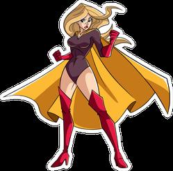 Super Heroine Ready For Battle Sticker