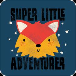 Super Little Adventurer Fox Sticker