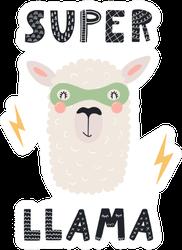Super Llama Cartoon Sticker