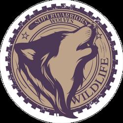 Super Warriors Wolves Sticker