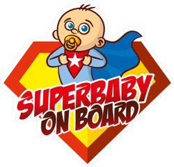 Superhero Baby on Board Sticker