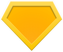 Superhero Logo Diamond Sticker