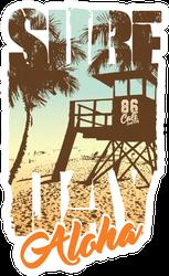 Surf Day Aloha Sticker