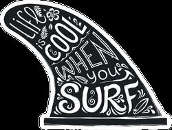 Surf Fin Lettering Sticker