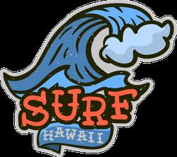 Surf Hawaii Tattoo Sticker