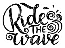 Surf Lettering Quote Sticker