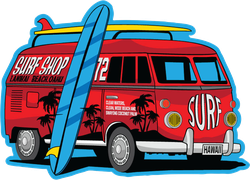 Surfer Van Sticker