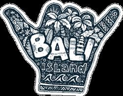 Surfers Shaka Hand Silhouette Bali Sticker