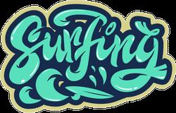 Surfing Typography Sticker