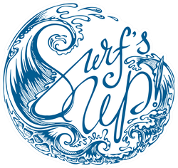 Surf's Up Waves Sticker