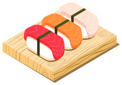 Sushi Board Sticker