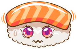 Sushi Cartoon Sticker