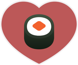 Sushi In Heart Sticker