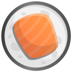 Sushi Roll Icon Sticker