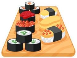 Sushi Rolls On Board Sticker
