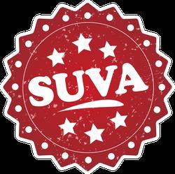 Suva Grunge Stamp Fiji Sticker