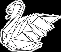 Swan Geometric Line Art Sticker