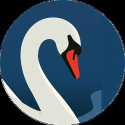 Swan Largest Waterfowl Species Beautiful Background Sticker